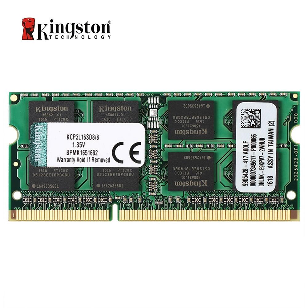 Kingston-memoria RAM para ordenador portátil, 8GB, DDR3L, 1600MHz, 1,35 v, (KCP3L16SD8/8)
