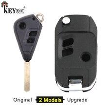 KEYECU For Subaru Legacy Forester Outback Impreza Replacement Original/ Modified Folding Flip 3 Button Remote Key Shell Case Fob