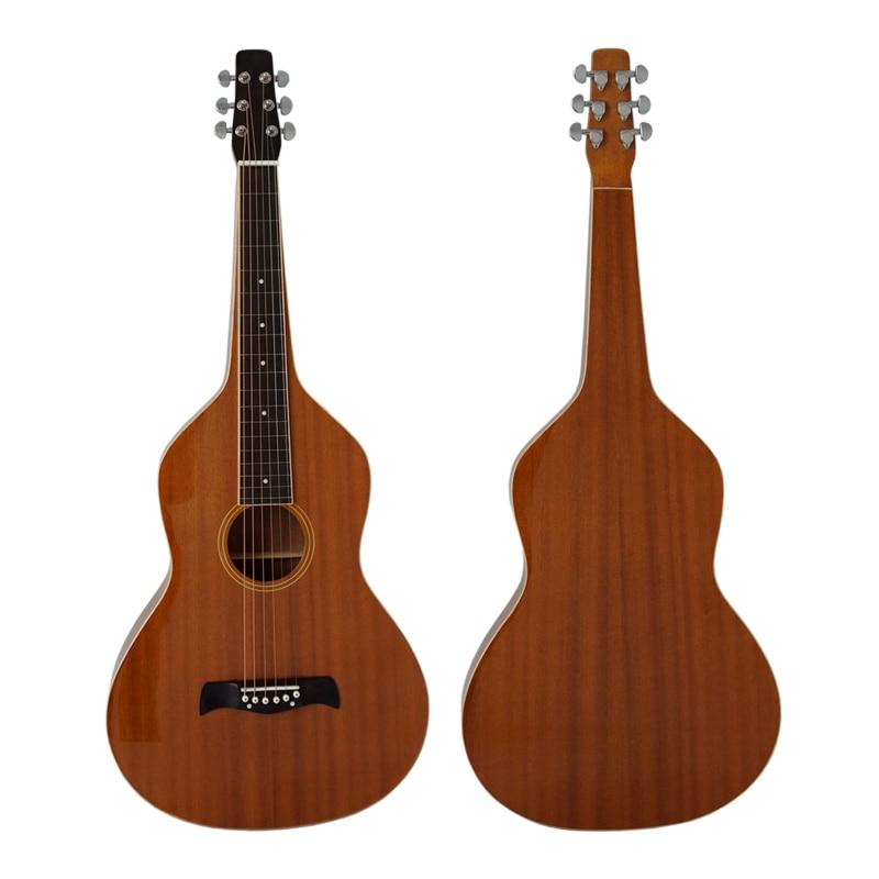Vintage 1920 hawaiian guitarra estilo mogno corpo hawaiian weissenborn slide guitarra modelo hg001
