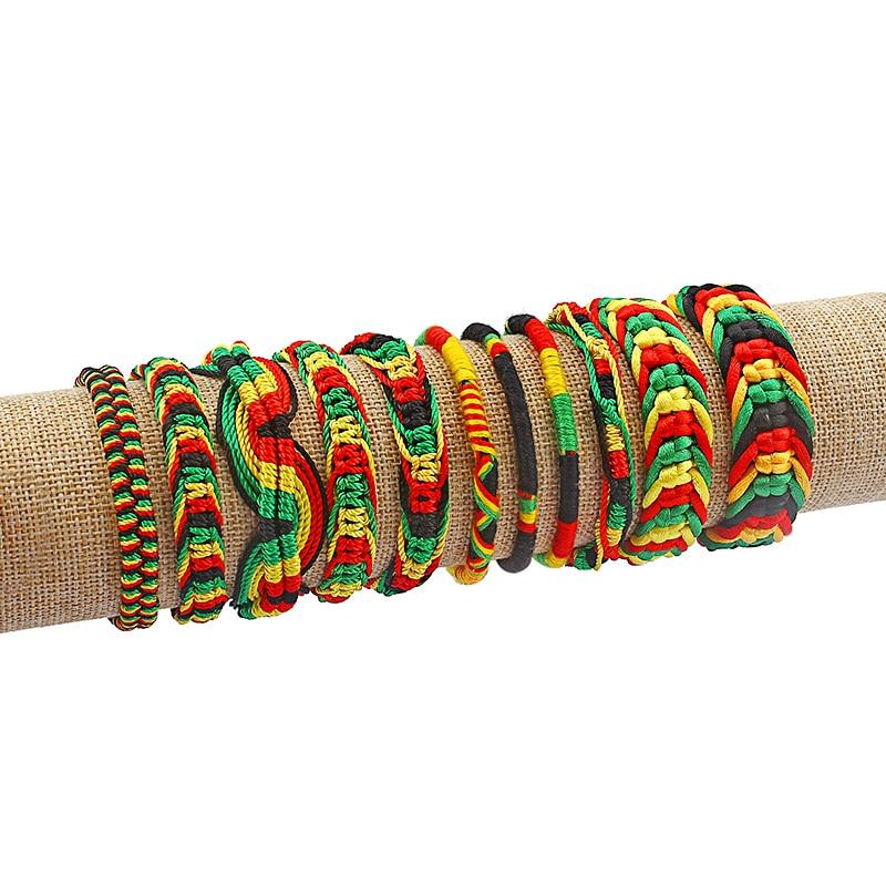 Браслет раста, 1 шт., хлопковый, Шелковый регги, Корея, серфер, регулируемые украшения в стиле бохо