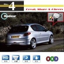 Caméra de voiture pour Peugeot 206 / 207 / 306 / 307 / 308   Vue arrière haute marche arrière, caméra de recul PAL/NTSC, utilisation CCD + RCA
