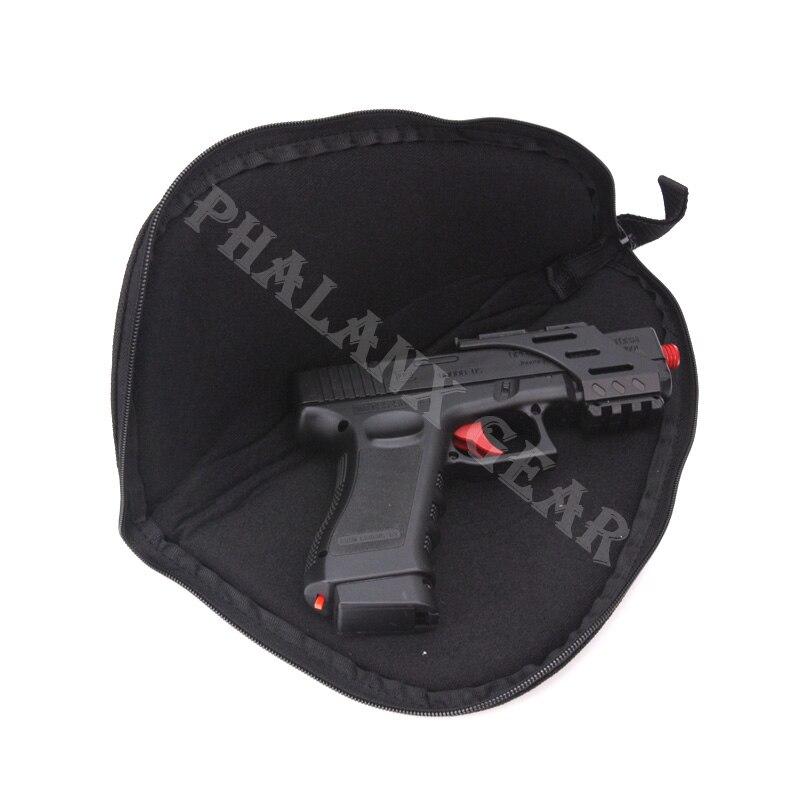 Portable Black Revolver Airsoft Pistol Rug Gun Carry Bag Holster Storage Case for Handgun Glock 17 18 19 22 23 M1911 P229