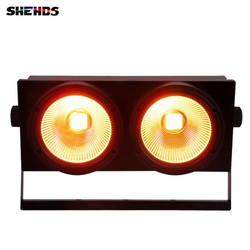 LED 2 عيون x 200 واط أضواء المسرح COB 2 عيون 200 واط DMX واقي لمبة ليد ضوء المرحلة لحفلة المسرح