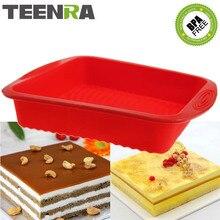 TEENRA 1Pcs 9 inch Silikon Backform Platz Backform Brot Backen Formen Silikon Kuchen Pan Mold Brot Pan küche Werkzeuge