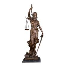 ArtsHom-Statue de déesse grecque de dame   Statue de déesse aveugle en Bronze, Themis Justitia Sculpture mythologie, Figurine Art classique Vintage,