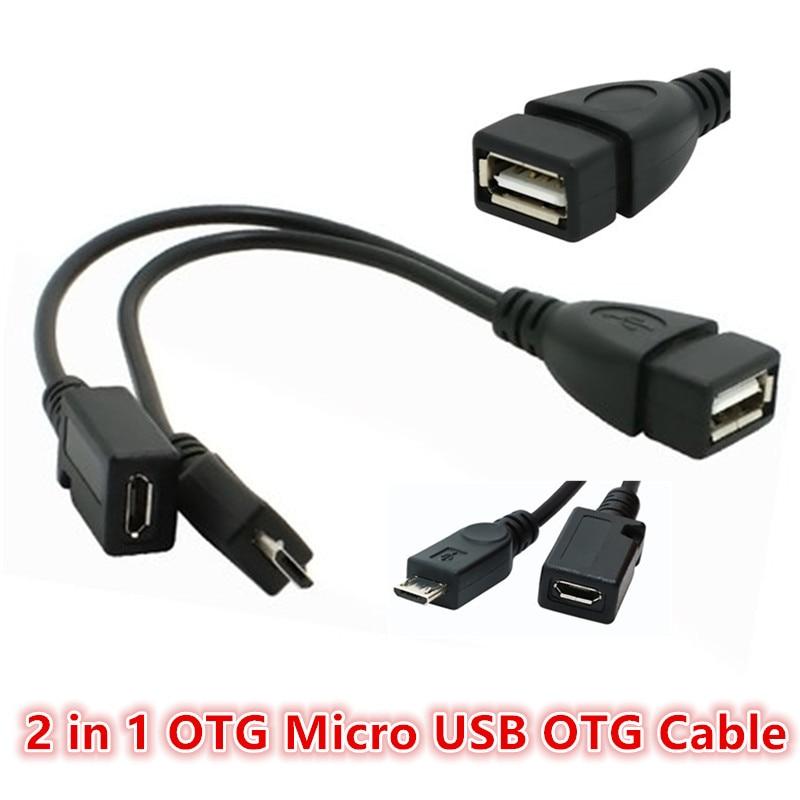 2 в 1 OTG адаптеры micro usb male female to USB female кабель OTG адаптер для телефона Andriod