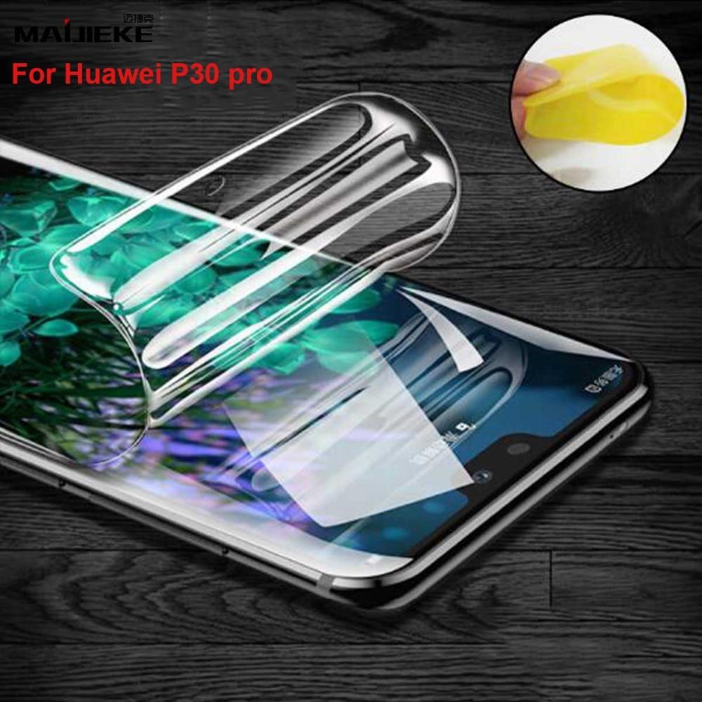 MAIJIEKE película de TPU de cobertura completa frontal para Huawei P30 Pro hidrogel Protector de pantalla para HUAWEI P30 lite Nano película suave (no cristal)