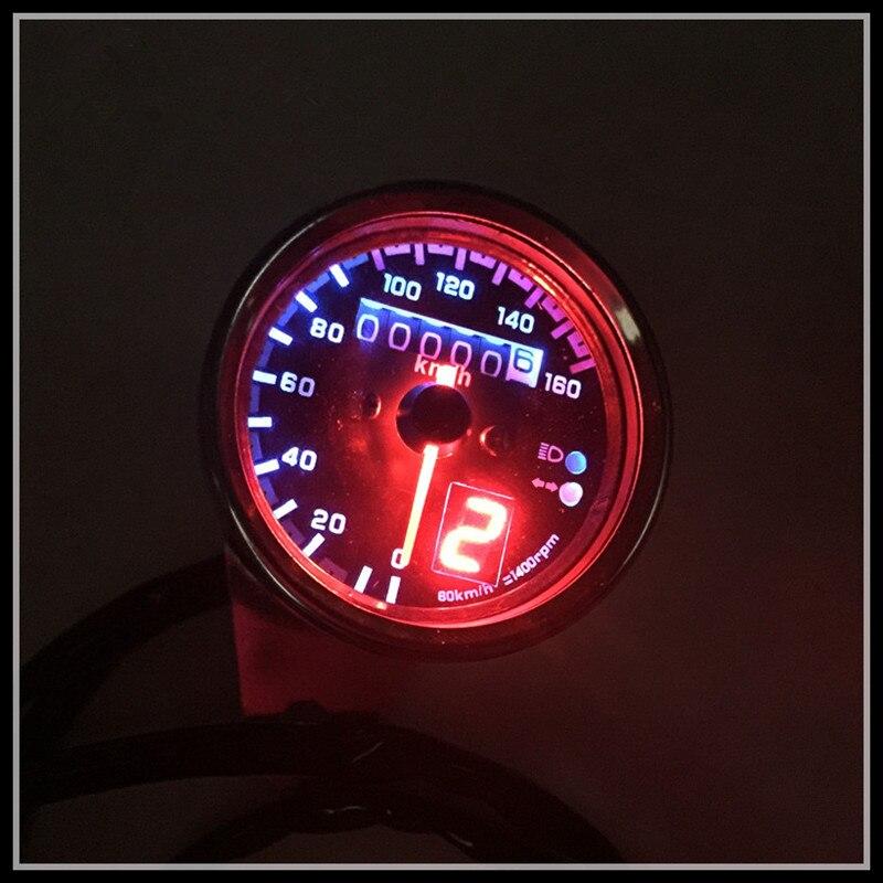 motocicleta gn125 cg125 retro metros refit retro moto odómetro odómetro led con indicador de marcha