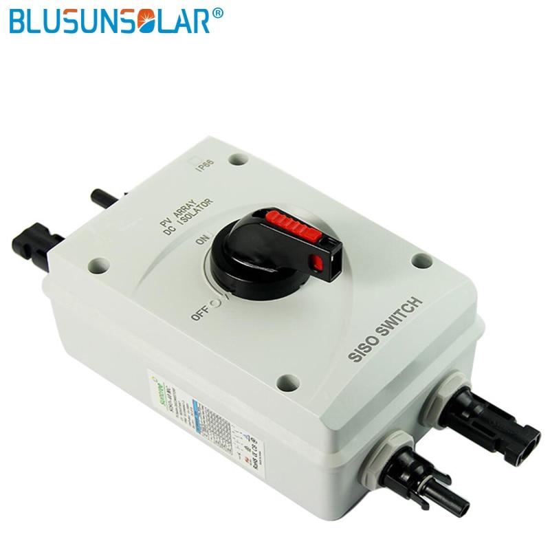 10 قطعة/الوحدة عالية الأداء 4 القطب 1000V DC 32Amp الشمسية الكهربائية DC المعزل التبديل مع 2 أزواج الشمسية موصلات