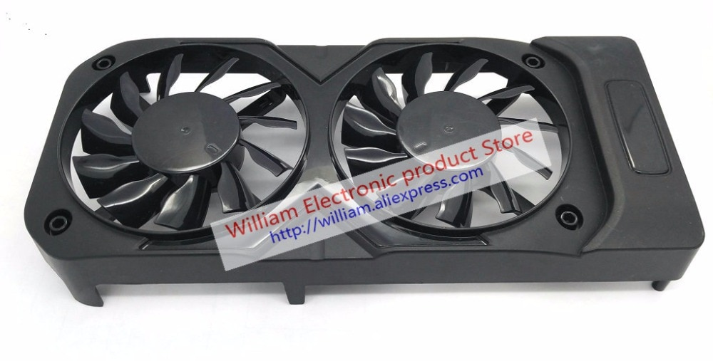 Original FD8015H12S DC12V 0.32A for palit geforce gtx 1050 ti dual Graphics card cooling fan 1set (shell + 2pcs)