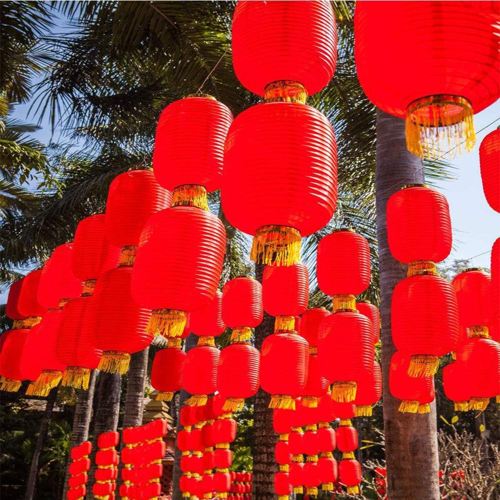 3 шт. красный китайский новогодний фонарь цилиндр китайский фонарь фестиваль Китайский ветер украшение китайские друзья отель фестиваль ук...