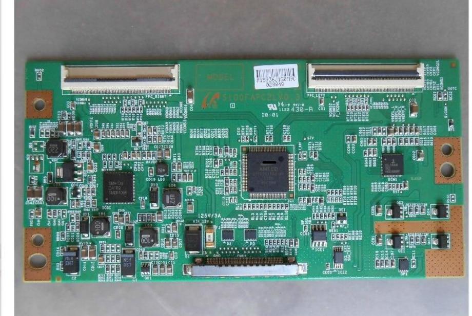 Placa lógica s100fapc2lv0.3 da placa do lcd para conectar com ltf460hn01 ltf400hm03 lta460hm05/3 t-con conectar a placa