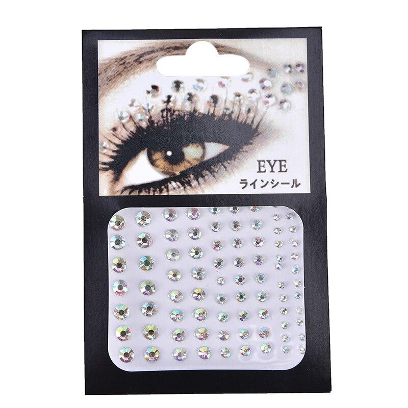 Christmas DIY Eyebrow Face Body Art Adhesive Crystal Glitter Jewels Festival Party Eye Tattoo Stickers Makeup Xmas Decor