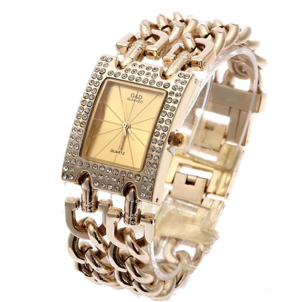 G&D Women Quartz  Wristwatches Gold Stainless Steel Top Brand Luxury Watch Analog Dress Relogio Feminino Reloj Femme Clock Gifts enlarge