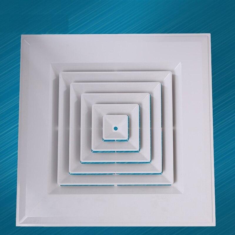 """12 """"* 12"""" (300*300mm) difusor de techo de plástico cuadrado ABS rejilla de ventilación con adaptador de arranque de registro"""