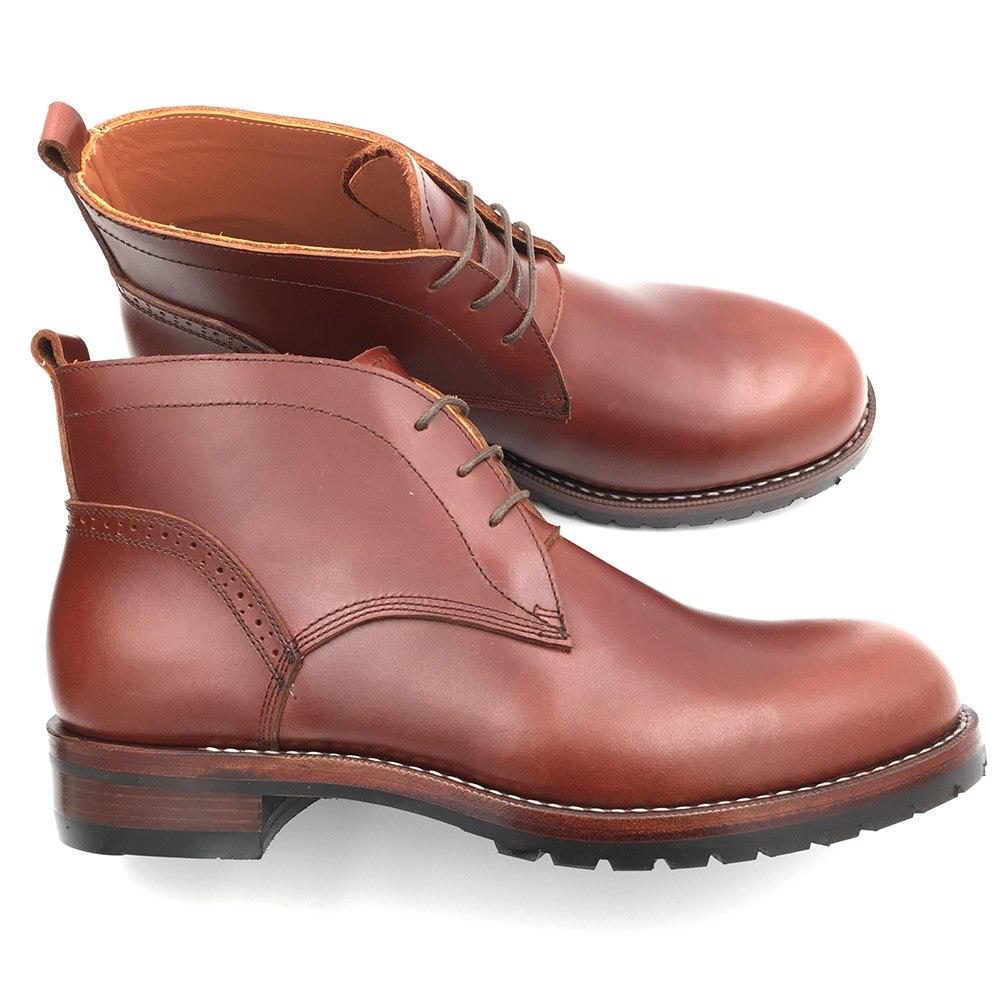 Sipriks-أحذية جلدية للرجال مصنوعة يدويًا بمقدمة مستديرة ، أحذية جلدية للرجال ، نعل جلدي مع مطاط سميك ، أحذية كاوبوي 44