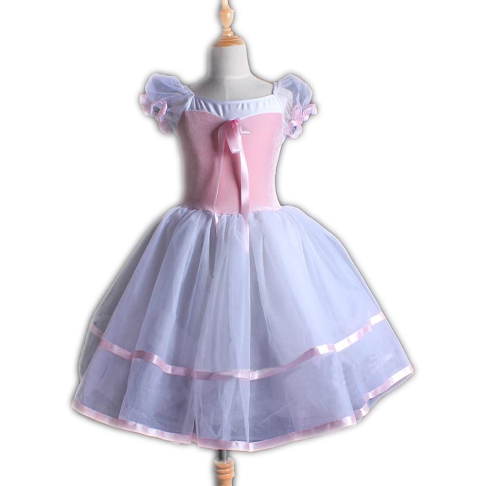 Weibliche Lange Rosa Weiß Kinder Ballett Dance Bühne Leistungen Ballett Kostüme für Frauen kinder Kostüme für Leistungen
