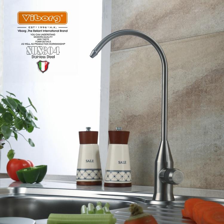 Viburg-صنبور تنقية المطبخ من الفولاذ المقاوم للصدأ ، فلتر مياه الشرب ، فلتر صنبور الترشيح ، أنظمة التناضح العكسي