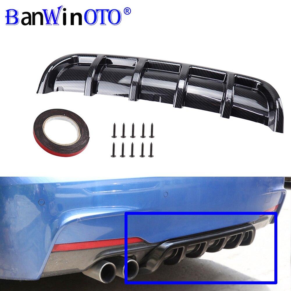 Modificación de coche Universal Spoiler chasis aleta tiburón Fin doblado inserto para difusor de parachoques trasero de alta calidad Material ABS BANWINOTO