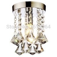 150mm Mini k9 Crystal Flush Mount 1 Light Modern Crystal Chandelier for Living Room 110-240v