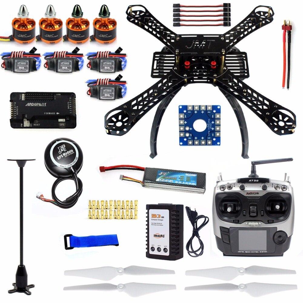 Drone Quadrocopter Conjunto Completo X4m380l Quadro Kit Apm 2.8 Gps At9s Transmissor Receptor F14893-m Diy rc