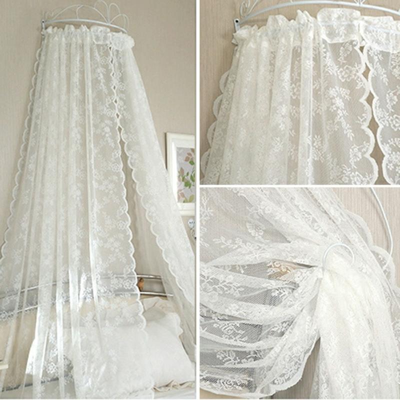 Cortinas de encaje de gasa, cortinas de tul, dosel para cama con insectos, cortina transparente para puerta, cortina para sala de estar