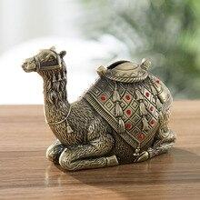 Décoration danimaux, Statue de chameau, artisanat métallique   Décoration Feng Shui, tirelire de haute qualité, cadeaux de vacances, décoration pour la maison et le bureau