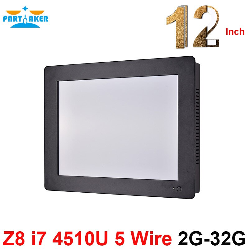 Partaker Z8 12.1 Inch Touch Screen All In One PC With Intel Core i7 4510U Duad Core 2G RAM 32G SSD