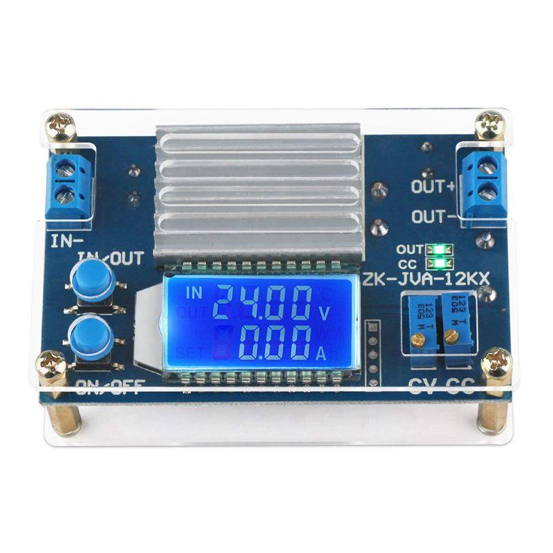 ABHU-DC 0-32V 12A corriente de voltaje constante LCD pantalla de corriente de voltaje digital ajustable Buck Step Down módulo de fuente de alimentación B