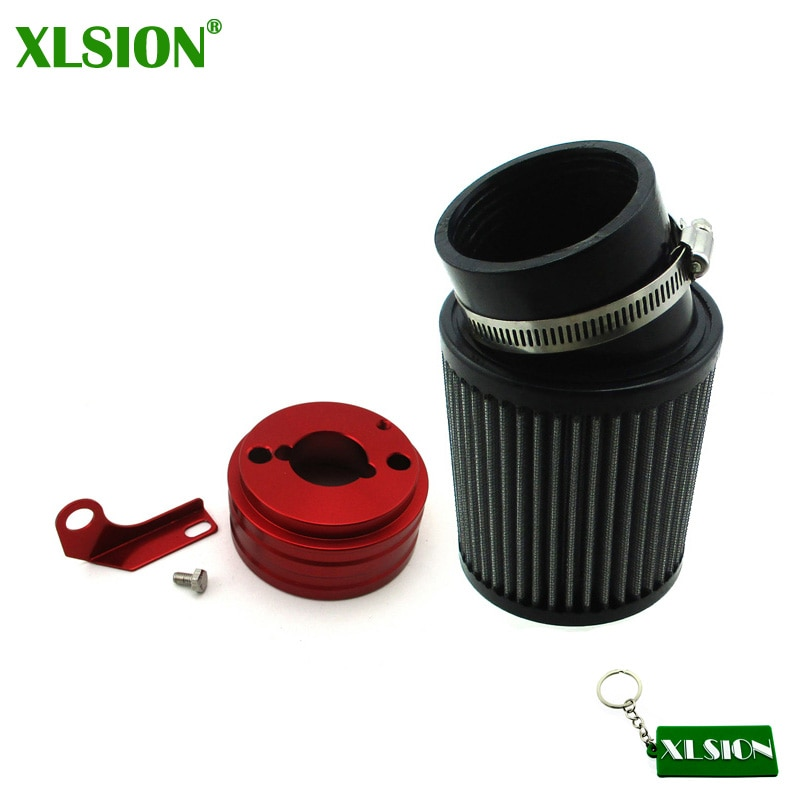 Kit de filtro y adaptador de aire XLSION compatible con motor Predator 212cc Go Kart, carrito de carreras, Mini bicicleta