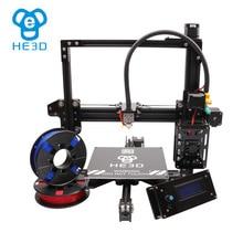 Otomatik seviye reprap HE3D EI3 TEK Alüminyum Ekstruder DIY 3d yazıcı kiti büyük baskı boyutu destekleyen çoklu baskı filamentleri