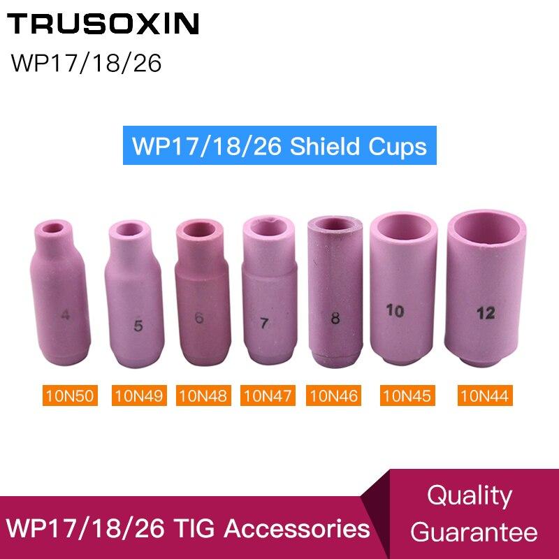 TIG Welding Machine Accessories/Consumables porcelain WP26 17 18 series Shield Cups Nozzles