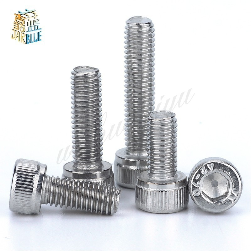 Tornillos de rosca métrica DIN912 M1.4 M1.6 304 de acero inoxidable, tornillos de cabeza hexagonal M1.4 M1.6 * 2/3/4/5/6/8/10/12/14/16/18/20 50 Uds.