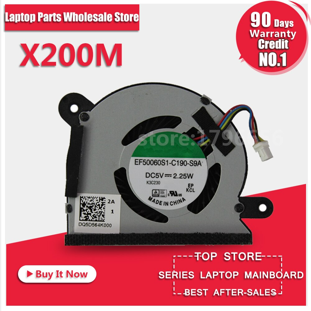 Ventilador X200M para X200LA X200MA X200L X200M ventilador de refrigeración probado bien disipador térmico