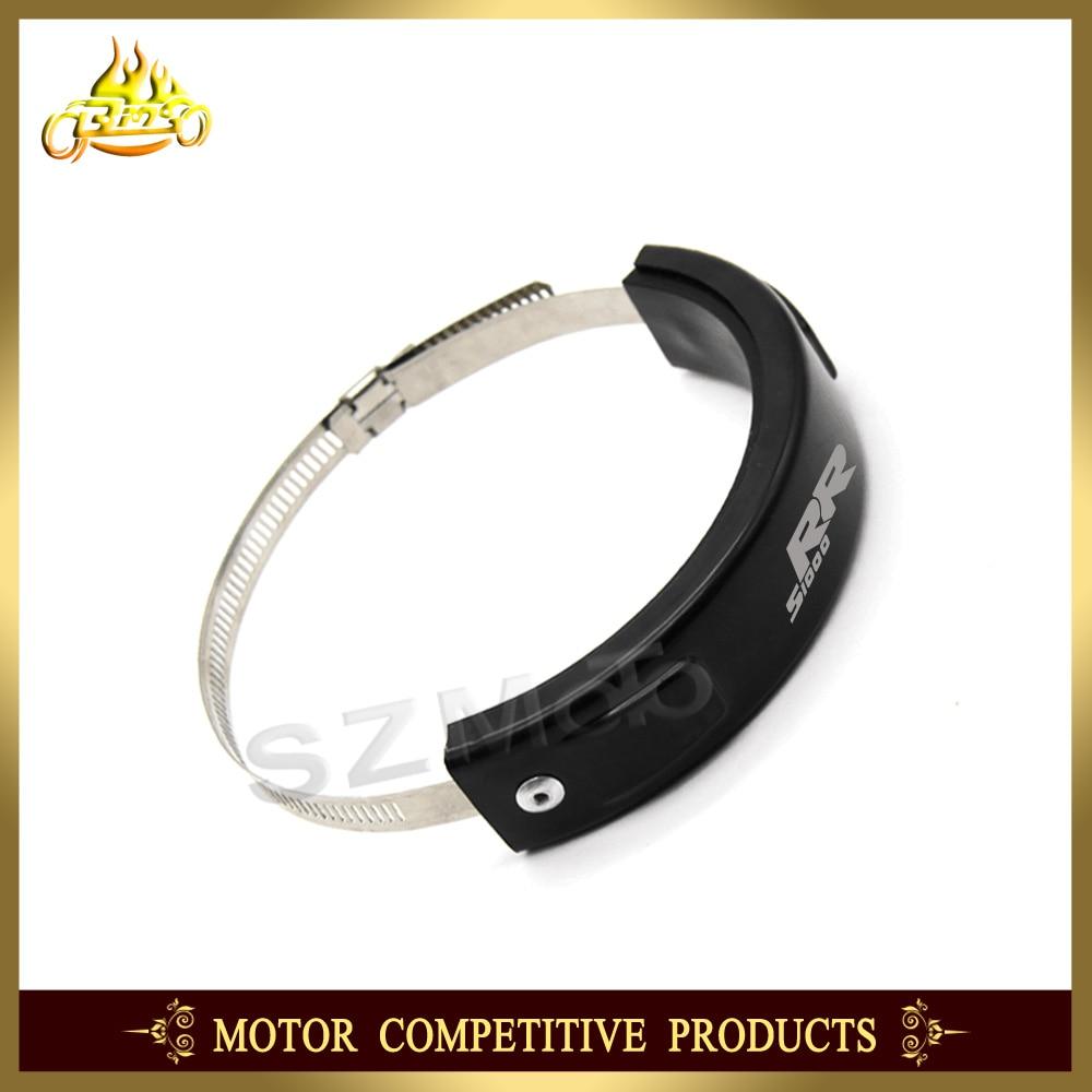 Silenciador/redondo Oval de escape Protector puede cubierta de 100 MM-140 MM accesorios de la motocicleta para BMW S1000RR S1000 RR