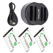 3-Pack NP-BN1 NPBN1 NP BN1 MILLIARDS Batterie & Chargeur Double USB pour SONY DSC TX9 T99 WX5 TX7 TX5 W390 W380 W350 W320 W360 QX100 W370