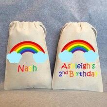 Pochettes à bonbons arc-en-ciel pour enfants   Sacs personnalisés pour fête danniversaire, cadeaux de remerciement, Kits de survie pour enterrement de vie de jeune fille