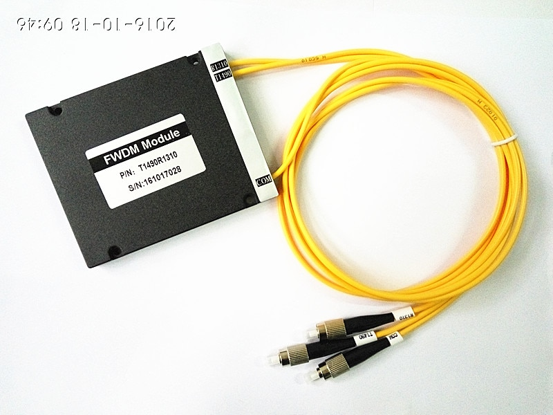 3 Ports FWDM 3mm 1M ABS Box FC/PC T1490 R1310 FWDM Module Filter Wavelength Division Multiplexer