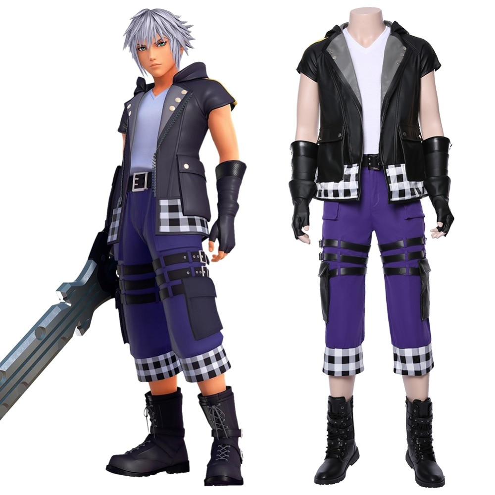 Kingdom Hearts III Cosplay Riku Cosplay Costume Kingdom Heart Outfit Outfit Full Set Halloween Carnival Cosplay Costume