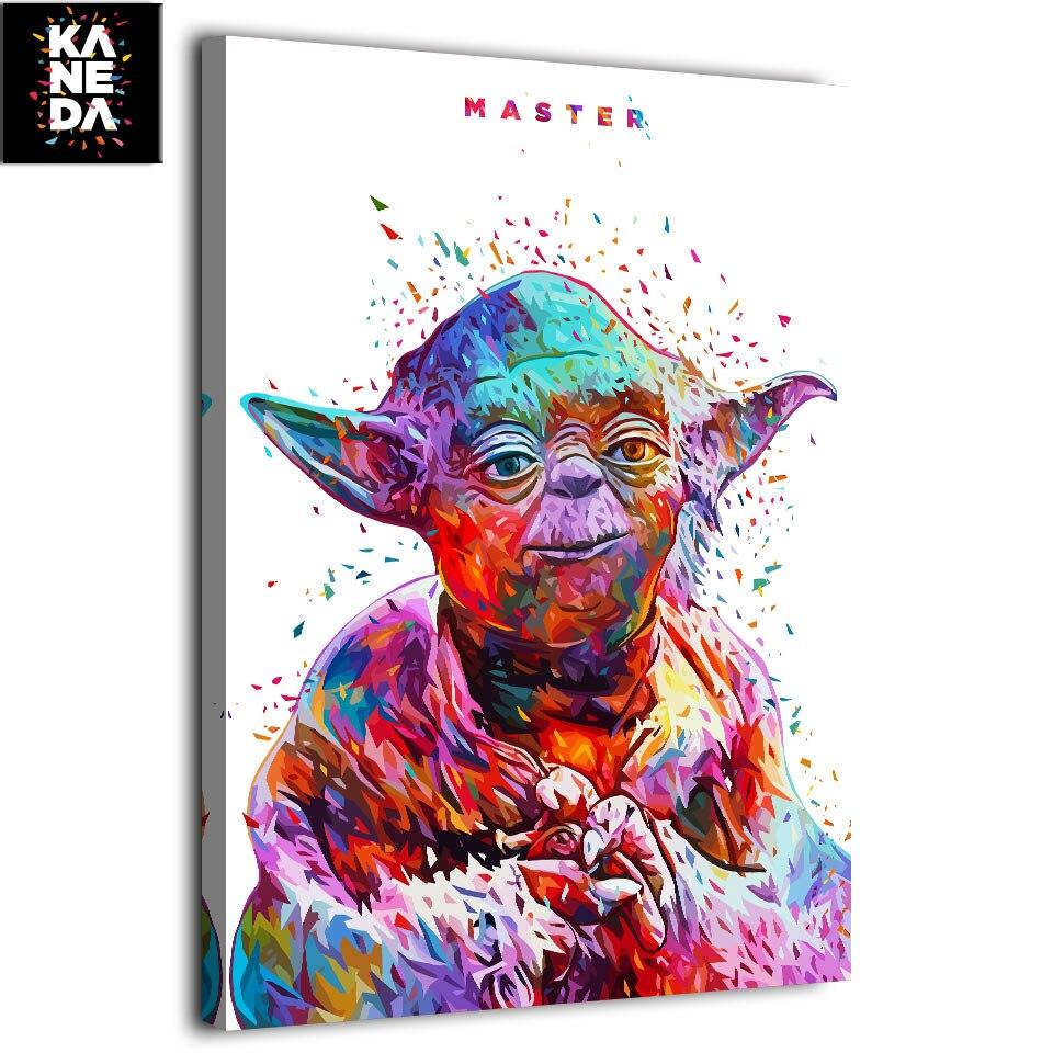 1 pieza impresión HD lienzo arte pintura estrella guerra maestro Yoda imagen de KANEDA Alessandro Pautasso película póster F1905