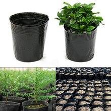Pots de pépinière plastique 100 pièces   Pot de fleurs, Pot de culture, Pot de semis, Pots de Nutrition noirs doux, sacs de plantation écologiques