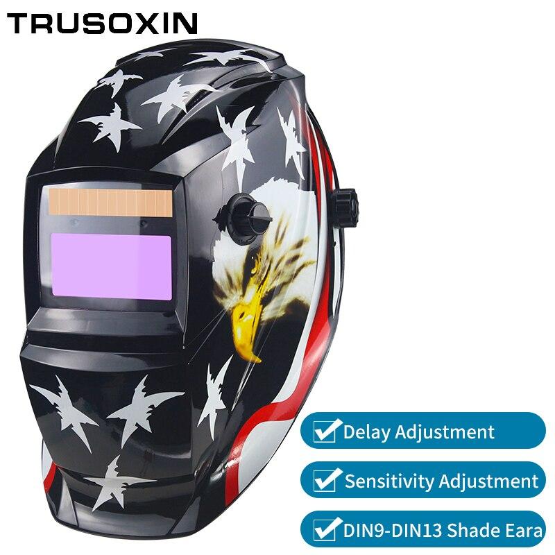 Batería/energía Solar Auto oscurecimiento TIG MIG MMA MAG KR KC Máscara de Soldadura eléctrica/cascos/soldador gafas para soldador