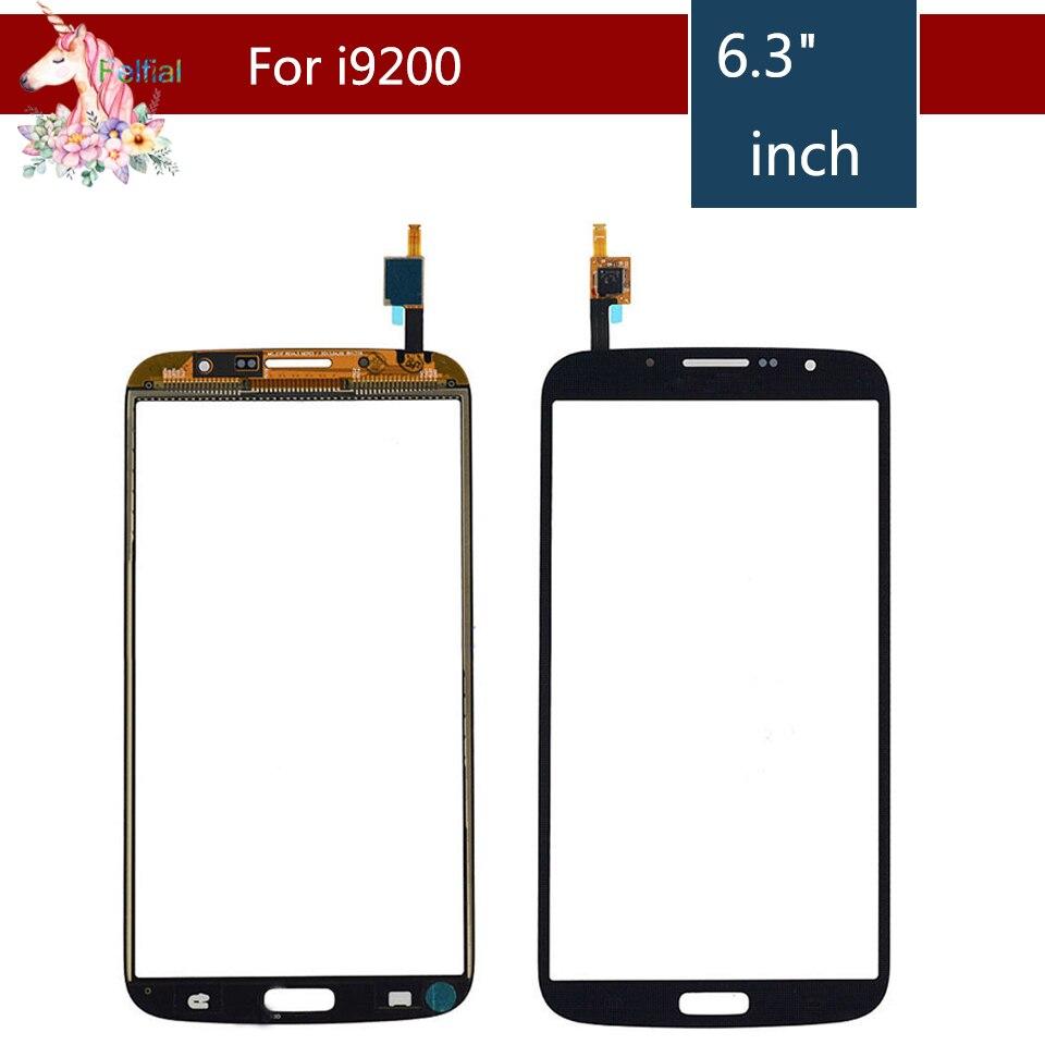 10 unids/lote para Samsung Galaxy Mega 6,3 GT-I9200 i9200 GT-I9205 i9205 Digitalizador de pantalla táctil Sensor de recambio de lentes de vidrio frontal