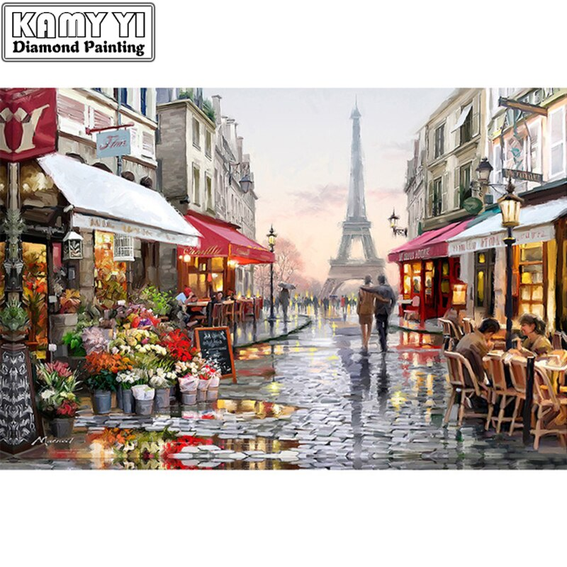 5D full gear diamond embroidery kit pattern diamond painting almaznaya mosaic bead picture of rhinestones Eiffel Tower ZS
