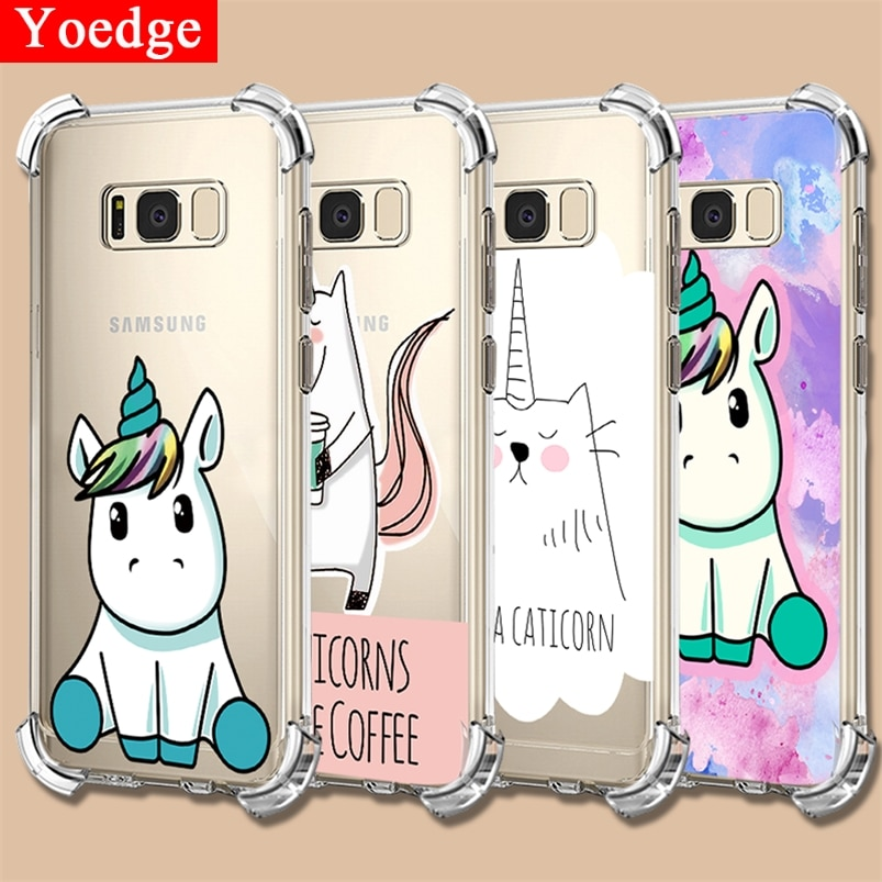 Para Samsung Galaxy A7 A9 2018 S7 S8 S9 S10 más S10E M10 M20 M30 A10 A20 A20E A30 A40 A50 A60 A70 Nota 8 9 a prueba de golpes caso del TPU