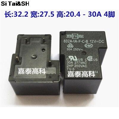 5 шт./лот 832A-1A-F-C-B 832A-1A-F-C-B-12VDC 832A-1A-F-C-B-12V 832A-1A-F-C-B-DC12V 4 контакта 30A 12VDC мощность Оригинальная Новинка