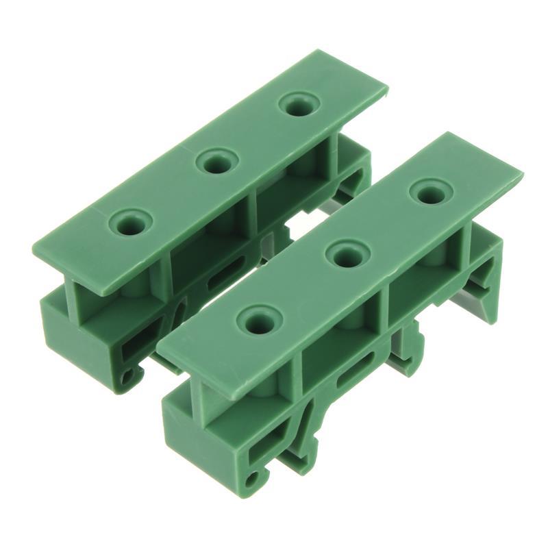 Transportador de PCB soporte PCB rail mount 1 par 35mm DIN Rail soporte adaptadores de plástico pies para LxW <= 100mm PCB o relé