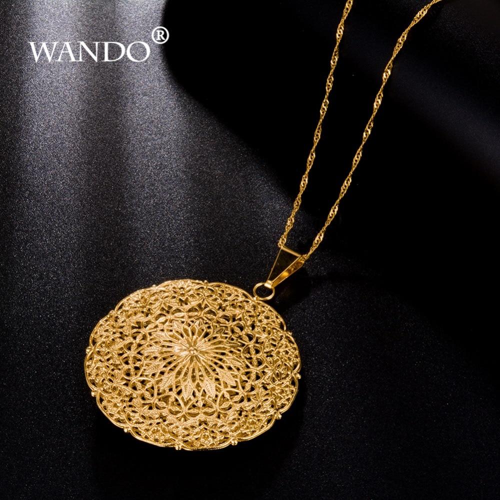 WANDO High quality Necklace For Women Choker Pendants Nigeria Sudan Eritrea Kenya Ethiopian Best Gift P5