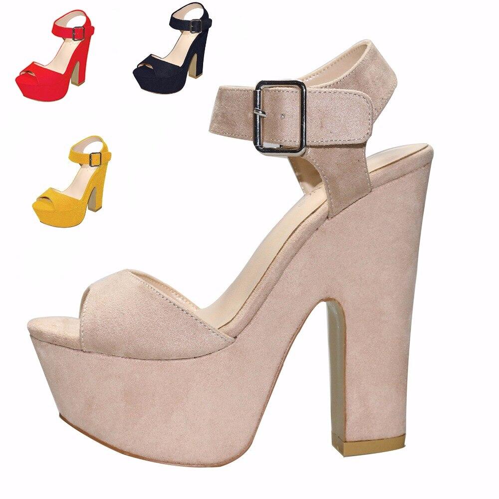 2021 جديد الأزياء 14.5 سنتيمتر سميكة الكعب الصنادل حار بيع اللمحة تو موجزة منصة الصنادل الصيف أحذية مريحة ل Women35-41