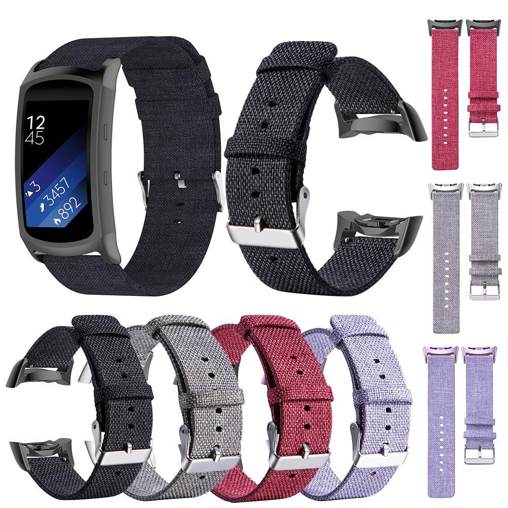 Boucle En Toile de Nylon Bracelet de montre Bracelets Pour Samsung Gear Fit2 SM-R360 SM-R350 SM-R365 Engrenage Fit2 PRO Remplacer Poignet Bracelet